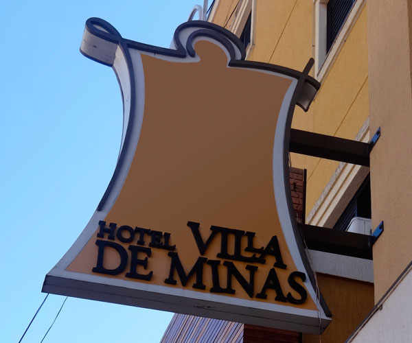 Placa Hotel Villa de Minas